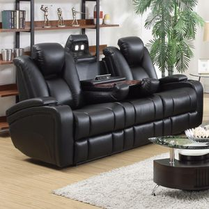 🖤Delange Reclining Power Sofa with Adjustable Headrests & Storage in Armrests for Sale in Atlanta, GA