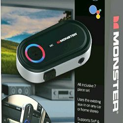 NEW! Monster 7 Piece Bluetooth Audio Receiver Kit with Voice Control  Thumbnail