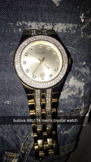 Photo Rare mens Crystal Bulova watch