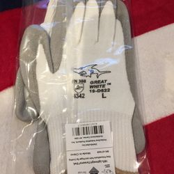 Great White 19-D622 PIP Work Gloves Size Large Thumbnail