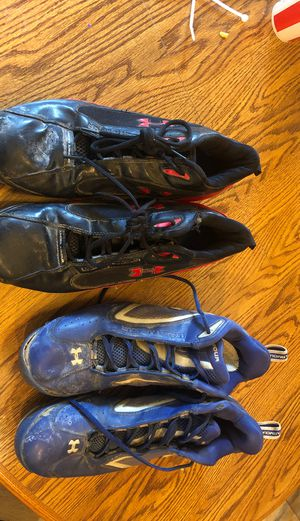 Photo 2 pair under armour baseball cleats size 11.5