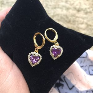 18k gold plated heart love earrings for Sale in Silver Spring, MD