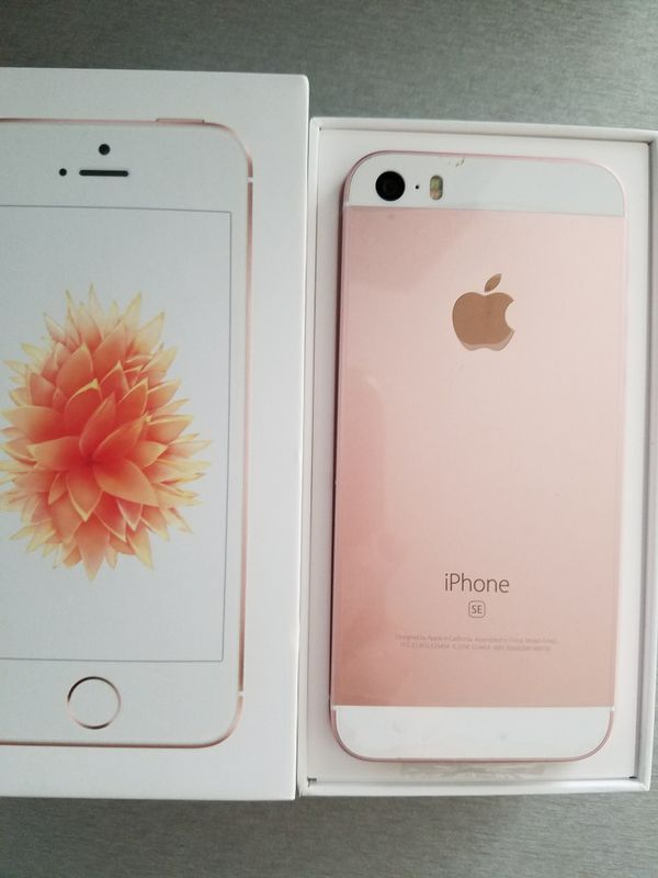 Unlocked Iphone Se 32gb Rose Gold 4 Display Model A1662 Part