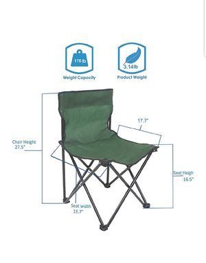 Summer ♡Portable Folding Camping Chair Outdoor Heavy Duty Table Chairs NEW from $12 for Sale in Silver Spring, MD
