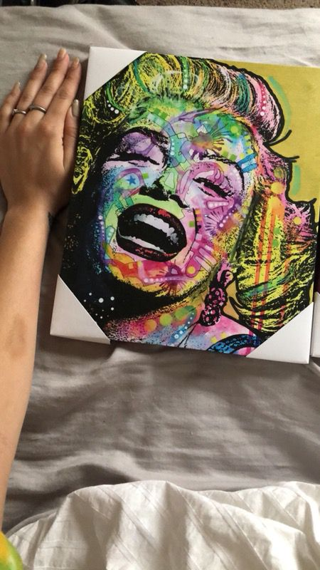Marilyn Monroe Audrey Hepburn art