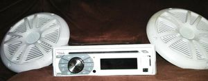 Boss boat radio with two speakers for Sale in Nashville, TN
