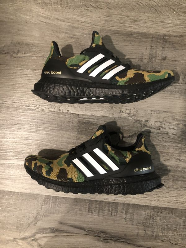 new concept 8e6a0 63b7b Bape x Adidas Ultra Boost Size 4.5 in hand for Sale in West Hollywood, CA -  OfferUp