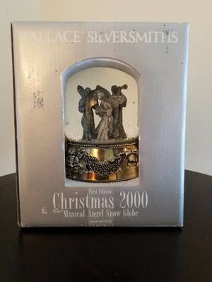 Wallace Silversmiths Christmass 2000 Musical Angel Snow Globe for Sale in Herndon, VA