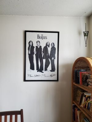 Photo The Beatles poster with frame