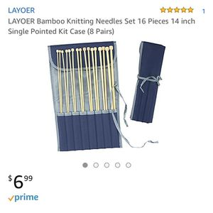 Bamboo knitting needles NIB for Sale in Rolla, MO