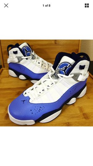 Kid's Nike Air Jordan 6 Rings GG Youth UNC Blue 323399 115 Size 5.5Y Womens 7.5 for Sale in Tampa, FL
