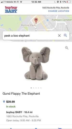 Peek-A-Boo Elephant for Sale in Columbia, MD