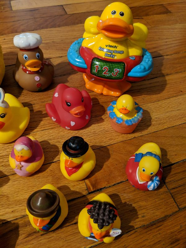 VTech splashing songs ducky and rubber ducks for Sale in Omaha, NE ...