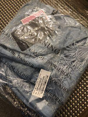 Dress Dusty Blue lace tassel trim plunge Midi for Sale in West Springfield, VA
