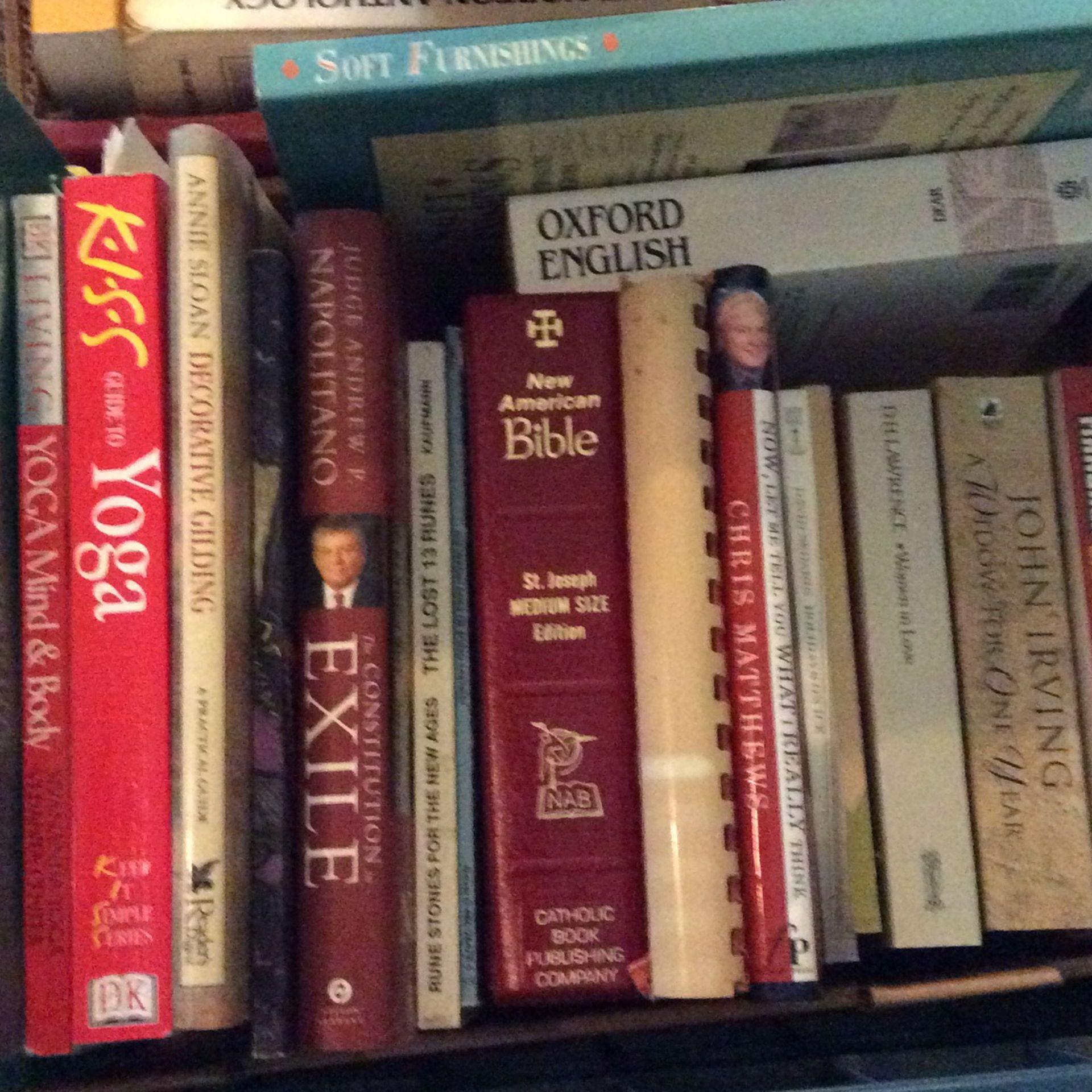 Various Book Titles. .50 - $1.00 Each.