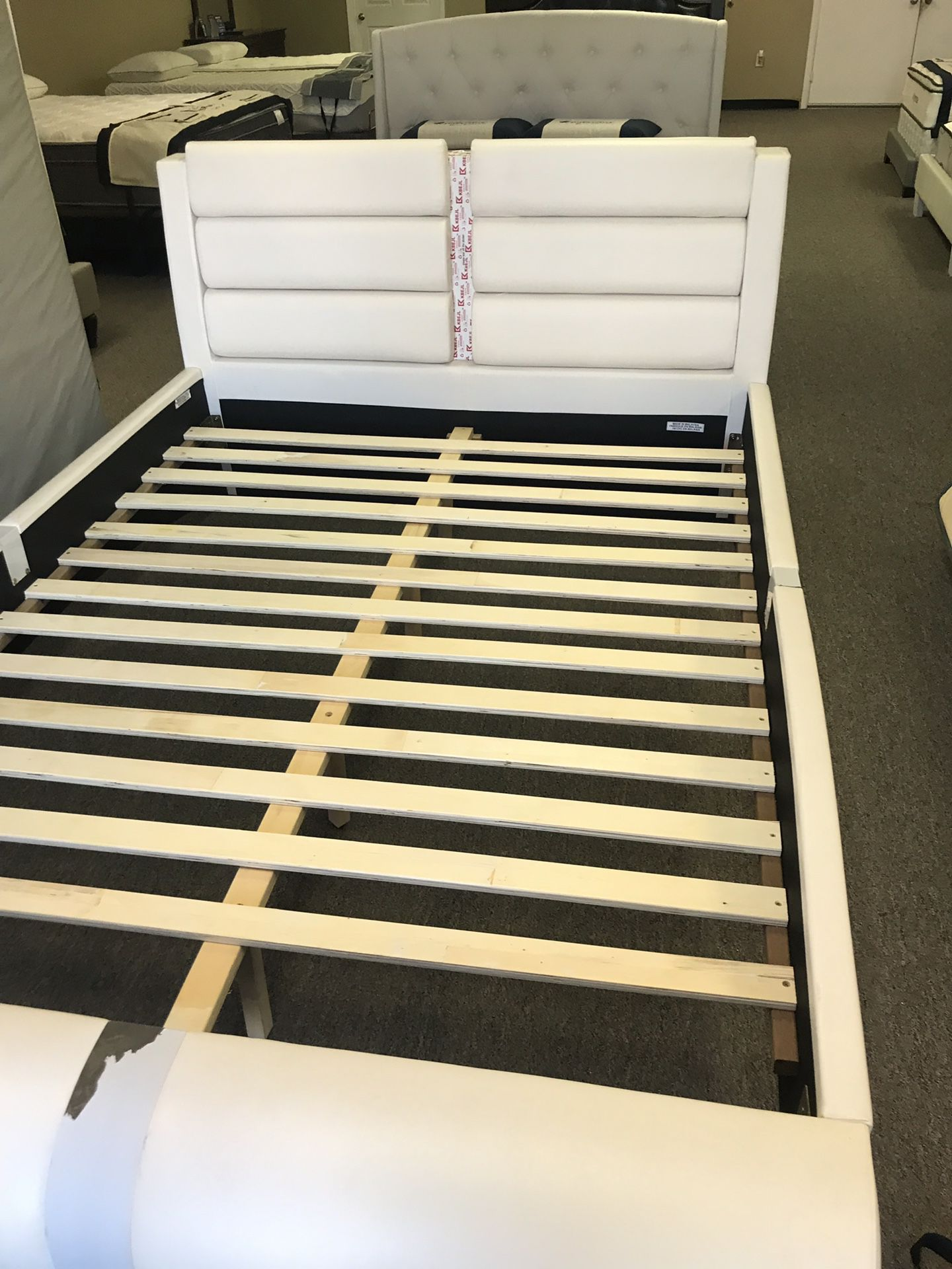 Zone white platform bed queen W mattress and delivery