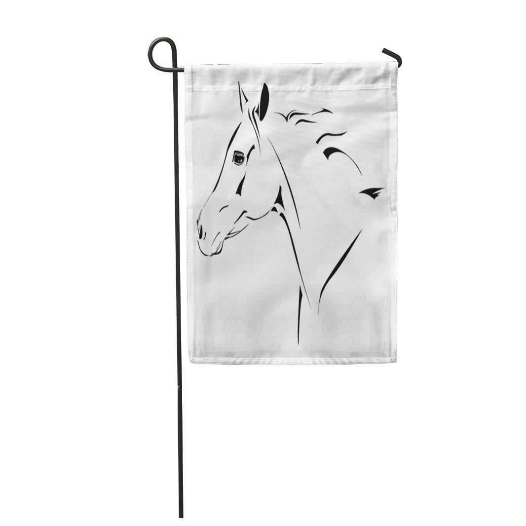 Western Horse Cowboy Activity Champion Clip Derby Garden Flag Decorative Flag House Banner 28x40 inch