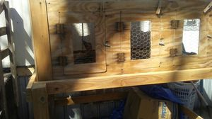 Rabbits and hutch for sale  Pryor, OK