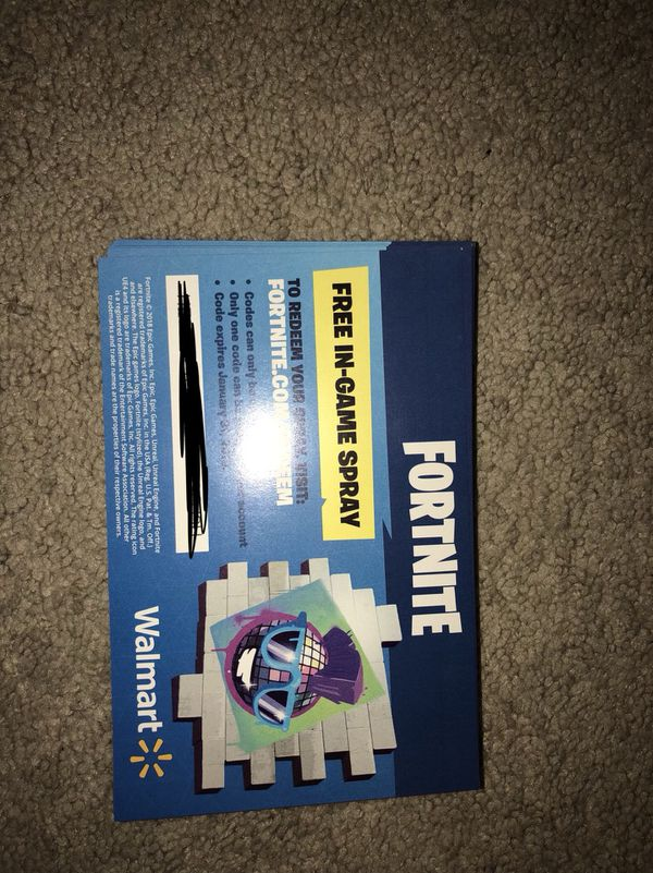Fortnite spray code Walmart for Sale in Concord, NC - OfferUp