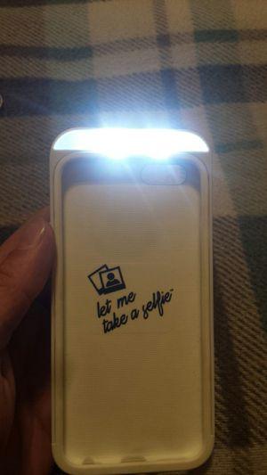 I phone 6\7 selfie case w\3 light selection, white for Sale in Murfreesboro, TN