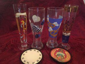 Ritzenhoff hand painted German beer glasses for Sale in Richmond, TX