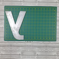 """Lot of Reclaimed Aluminum Sign Letter w/Threaded Mounting Holes - 7"""" & 10"""" Thumbnail"""