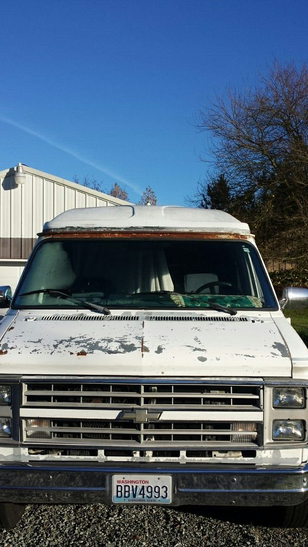 Chevy g30 v8 camper van for Sale in Puyallup, WA - OfferUp