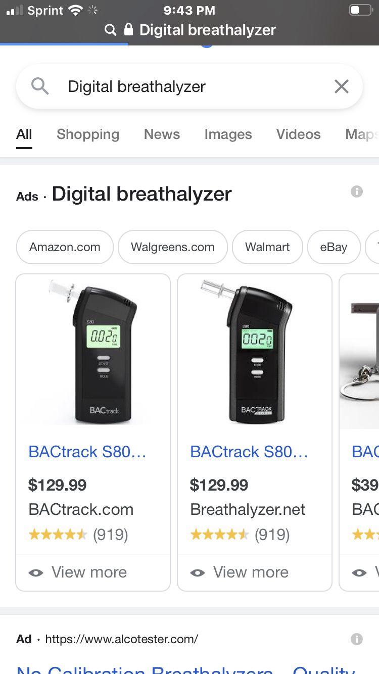Digital BAC Track Select Breathalyzer