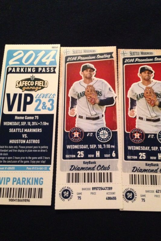 2 Mariners Baseball Tickets DIAMOND CLUB!! for Sale in ...