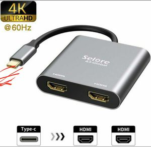 Photo USB C to Dual HDMI Adapter 4K @60hz,Type C to HDMI Converter for MacBook/MacBook Pro