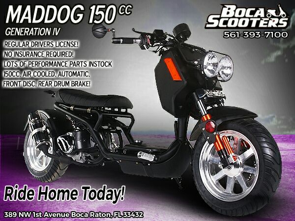 BRAND NEW Maddog 150cc Gen IV Scooter $1690 for Sale in Boca Raton, FL -  OfferUp