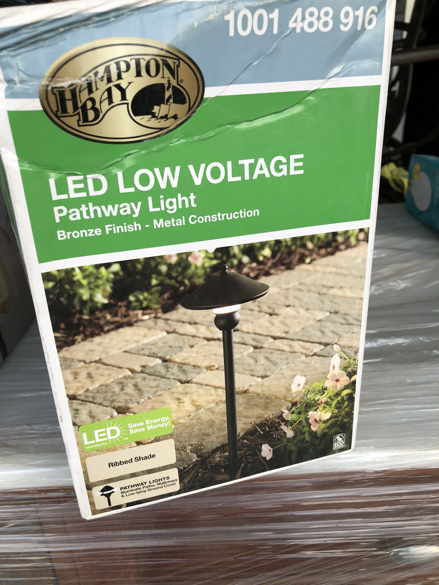 1- item only last one only $25  Hampton Bay Low-Voltage 10-Watt Equivalent Bronze Outdoor Integrated LED Landscape Path Light