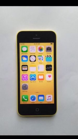 (Yellow)iPhone 5c ,Factory Unlocked Excellent Condition for Sale in Fort Belvoir, VA