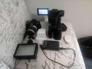 Panasonic Hc-1000 4k video camera kit & pentax camera with battery charger for Sale in Nashville, TN