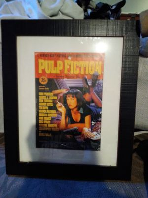 Pulp Fiction framed movie poster for Sale in Washington, DC