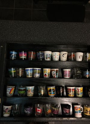 Shot Glass Collection w/Glass Case for Sale in Austin, TX
