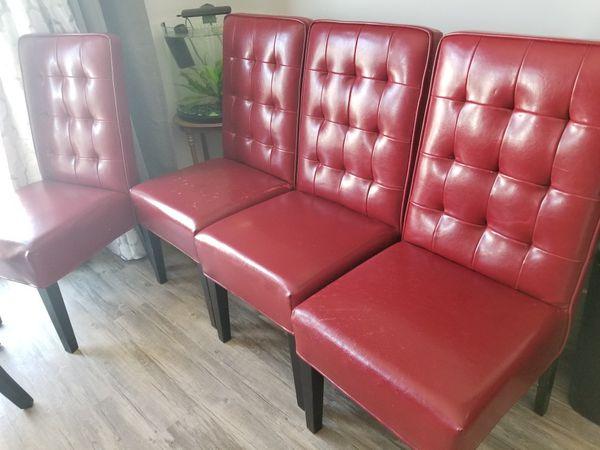 set of 4 red chairs (Furniture) in Herriman, UT - OfferUp
