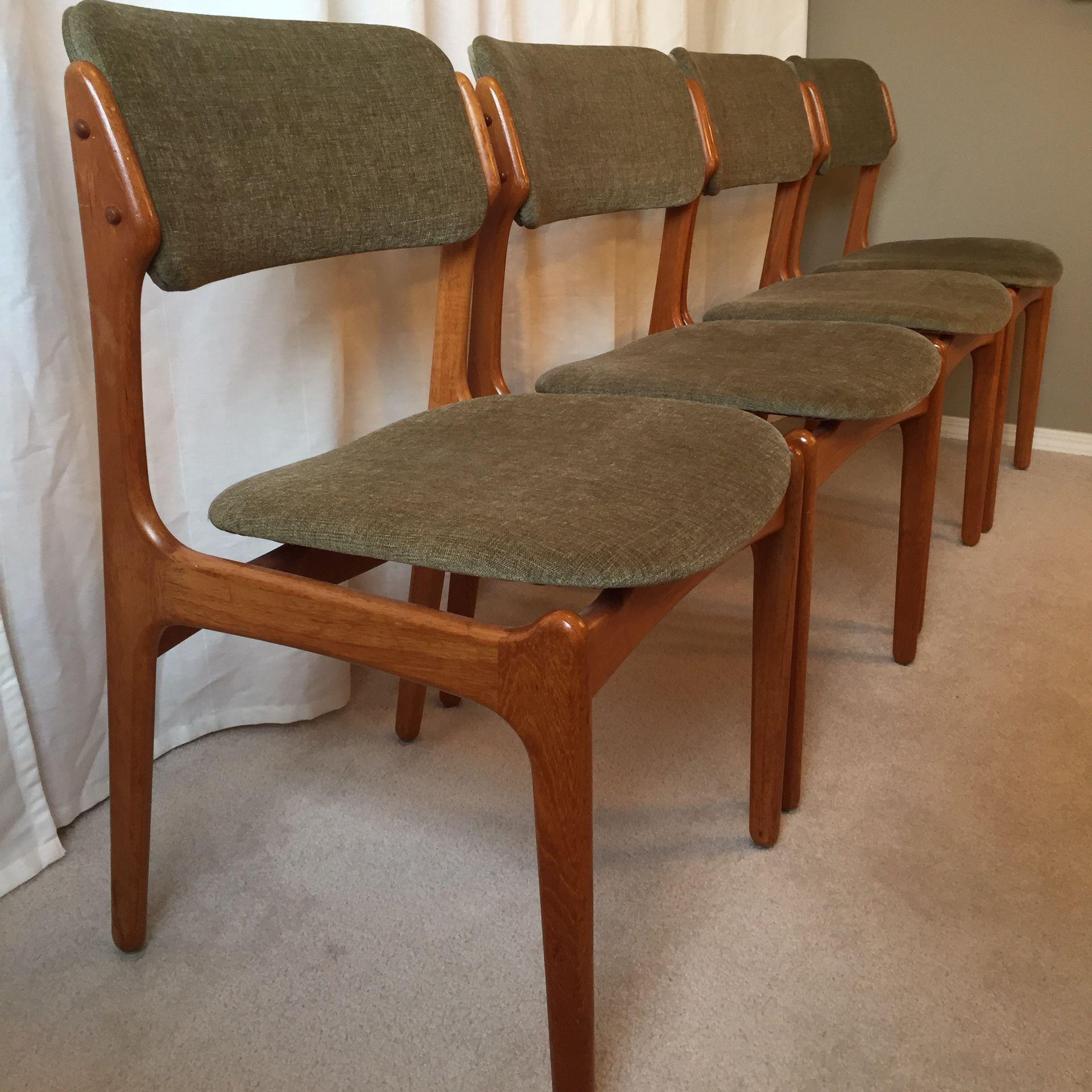 Mid Century Modern Danish Teak Dining Chairs, set of 9, Erik Buch ...