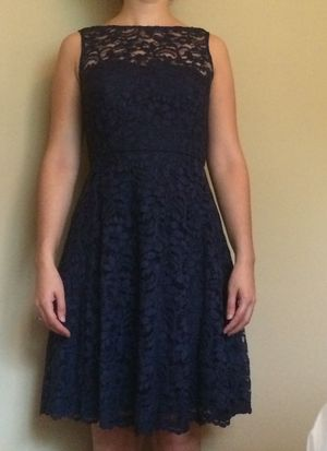 Marine Lace Dress Size 4 David's Bridal for Sale in Apex, NC