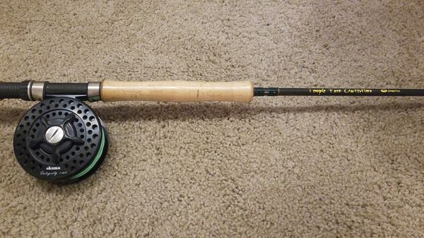 8e9e1422d Fly Fishing Rod and Reel combo 9 Weight for Sale in Riverview