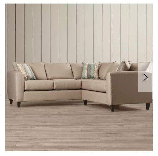 Sectional Couch:Beechcrest Home neutral color,pillow back for Sale in  Denver, CO - OfferUp