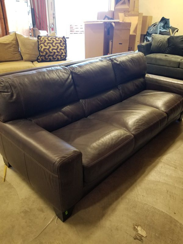 3 seat leather sofa for Sale in San Diego, CA - OfferUp