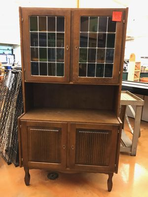Charming Wood Cabinet Hutch for Sale in Seattle, WA