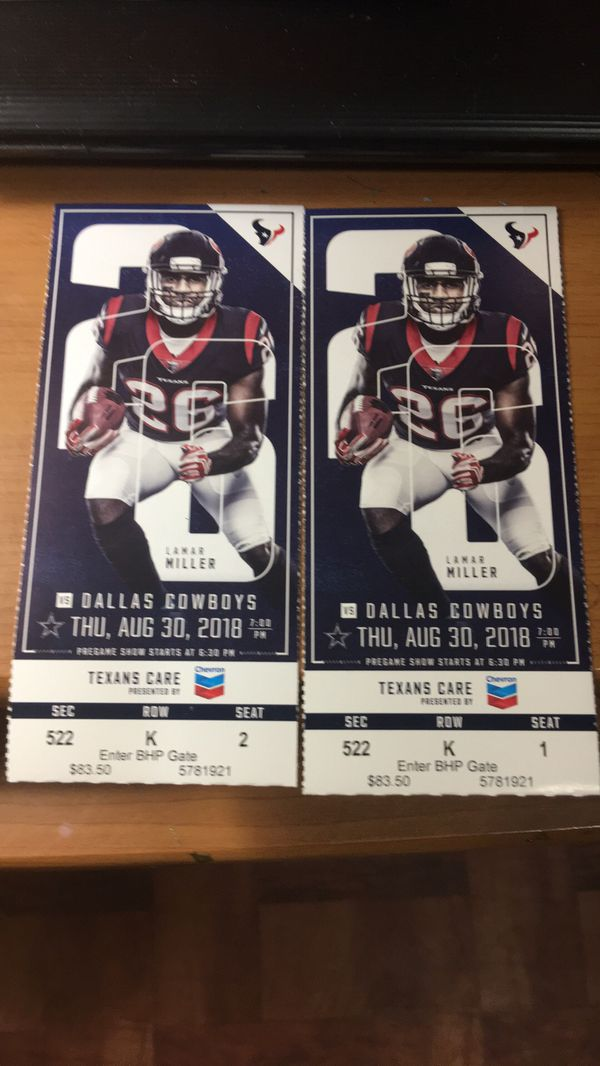 Houston Texans tickets for Sale in Houston, TX OfferUp