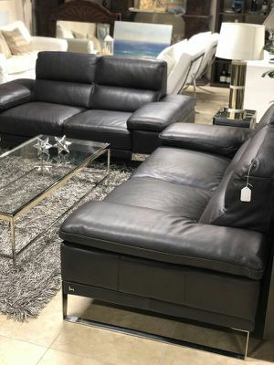 Incredible Modern Sleek 100% Top Grain Leather Sofas for Sale in Fort Lauderdale, FL
