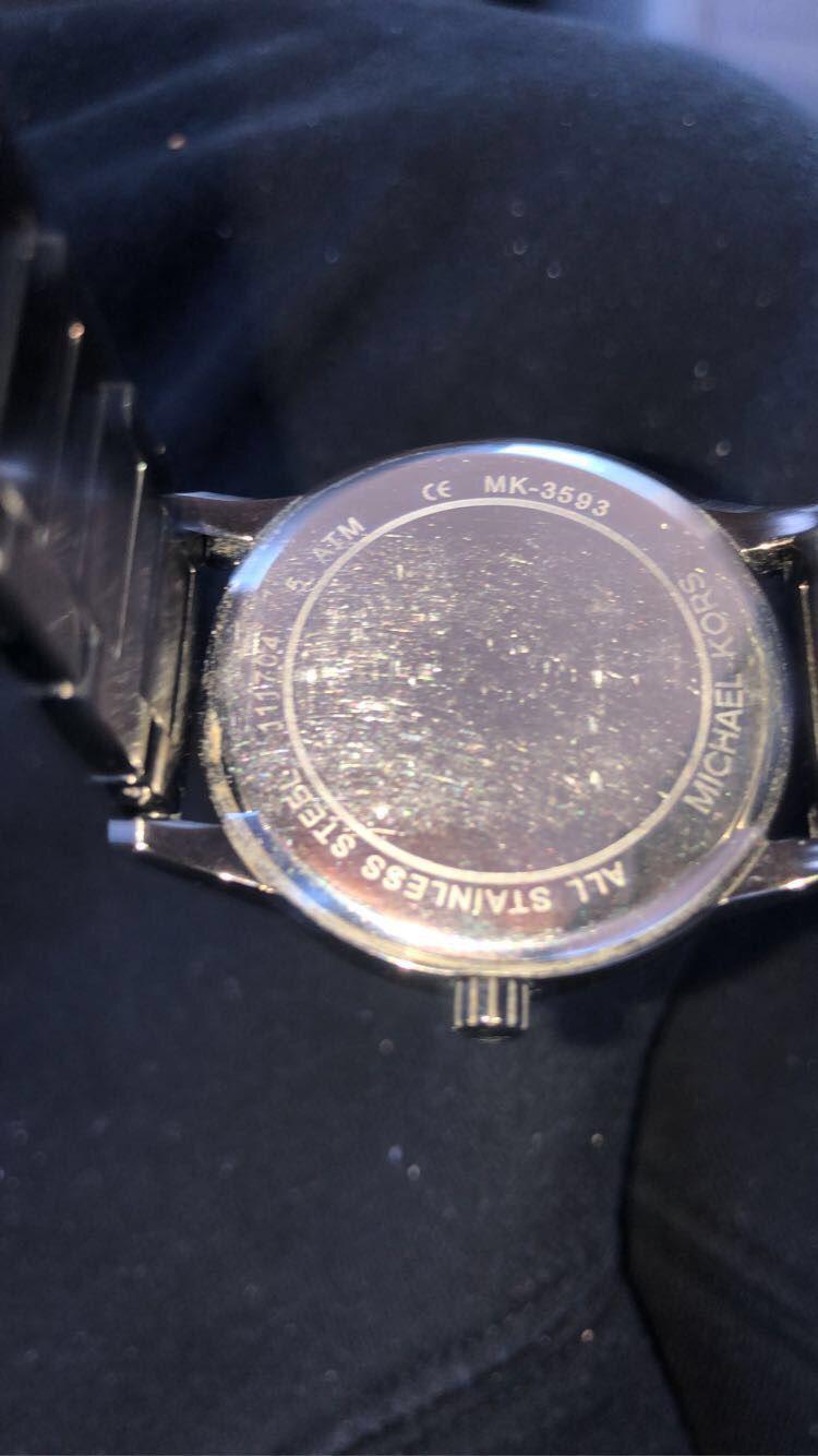 michael kors Hartman Chevron Pavé Gunmetal-Tone Watch