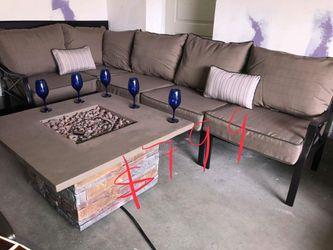 Brand new patio set fire pit propane Thumbnail