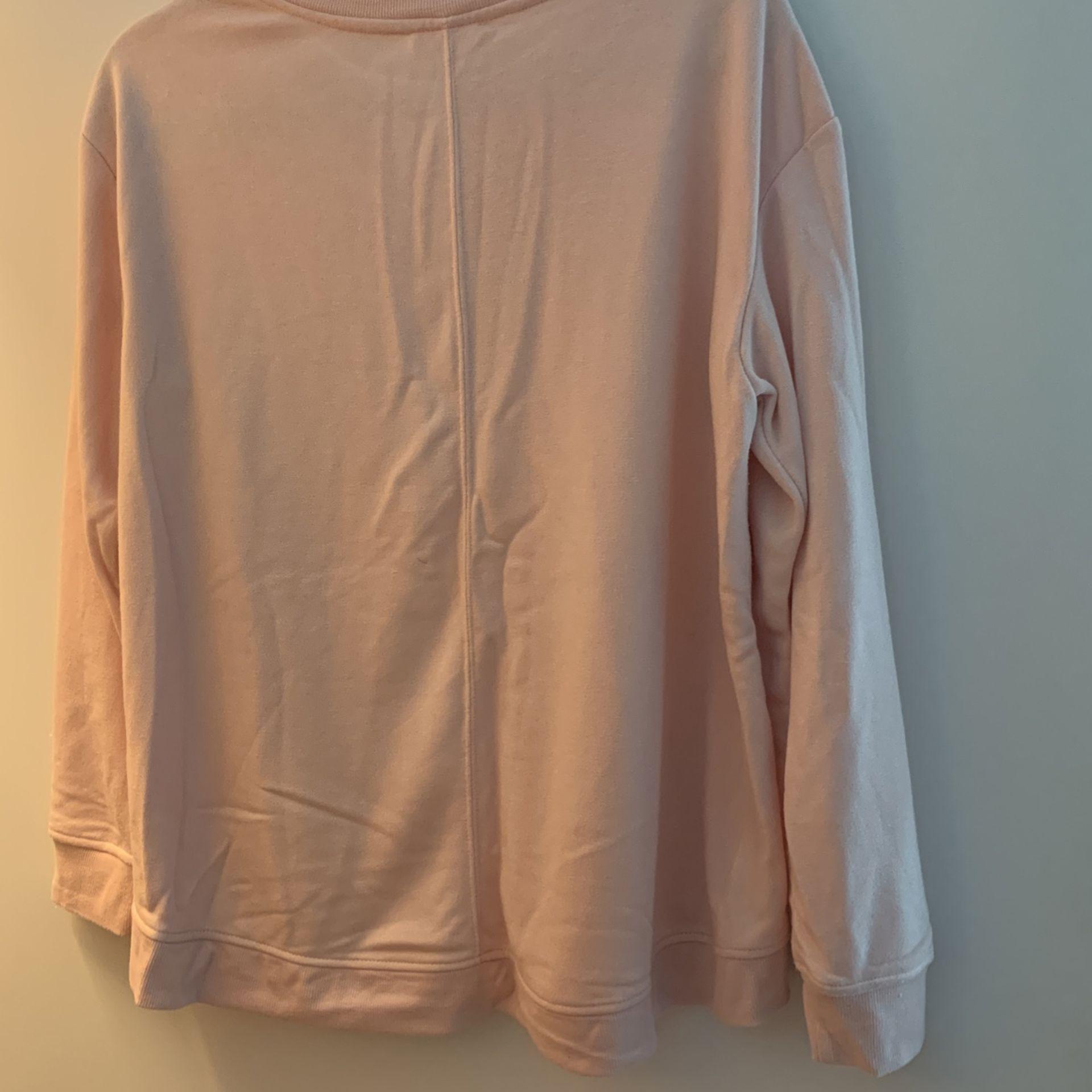 NWT Light Pink Sweatshirt