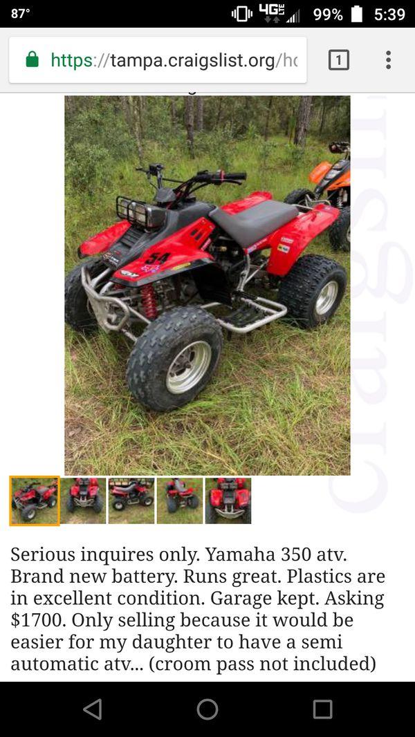 Yamaha Warrior 350 For Sale Craigslist - Foto Yamaha Best