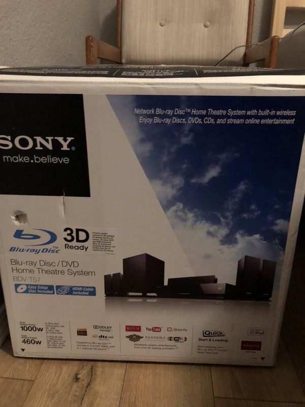Sony BDV-T57 BLU-Ray Disc / DVD Home theater surround sound system ...